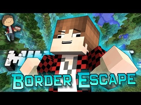 Minecraft: FUNNY NEW BORDER ESCAPE Mini-Game w/Mitch & Friends!