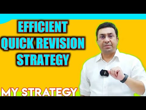 My Quick Revison Strategy