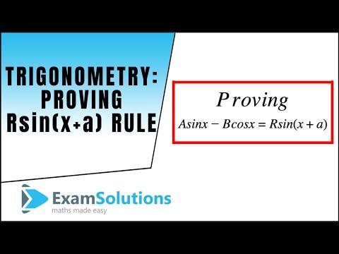 Trigonometrie: Nachweis eines sin x + B cos x = R sin (x + a)