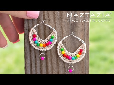 crochet - earrings with beads