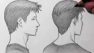 Drawing Time Lapse: Face in Profile/Turning Away