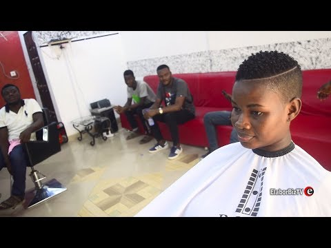 Hair salon - Pamela Watara Visits Men's Room Salon for Her Signature Hair Cut