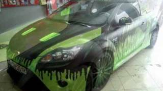 CAR WRAPPING GREECE FORD FOCUS RS.wmv