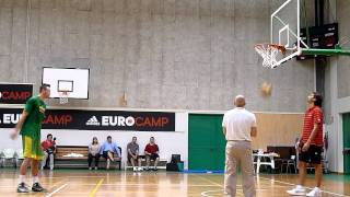 Donatas Motiejunas Workout in Treviso, Italy