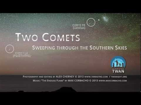 Lemmon - Two comets - C/2012 F6 (Lemmon) and C/2011 L4 (PanSTARRS) can be seen moving through the Southern Sky in this short time lapse video. Hopefully comet PanSTAR...
