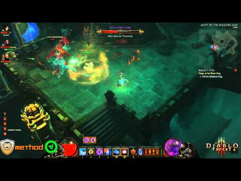 Diablo 3 - Skeleton King (Inferno) Kill Video Video