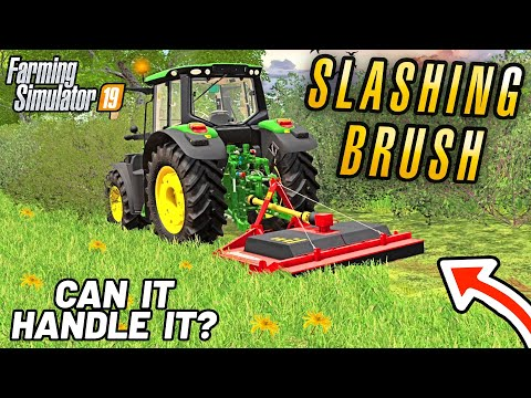 CAN IT HANDLE 8FT BRUSH? | Purbeck Valley Farm Farming Simulator 19 - Episode 7