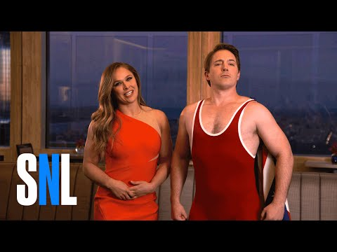 SNL Host Ronda Rousey Lets Beck The Wreck Bennett Try His Noggin