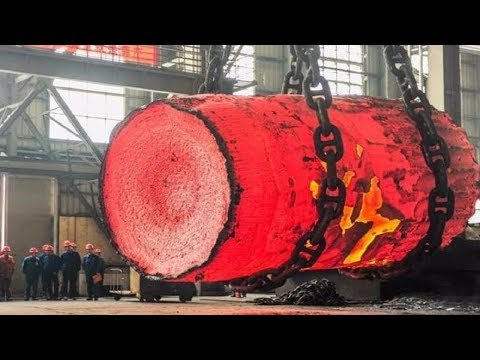 Dangerous Biggest Heavy Duty Hammer Forging Process, Fastest Hydraulic Steel Forging Machine