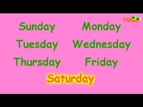 Days Of The Week Song - TV Левко - Пісня про дні тижня англійською