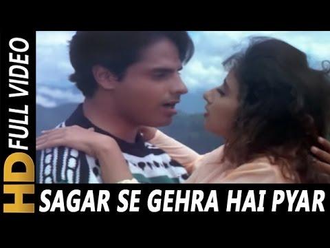 Video Sagar Se Gehra Hai Pyar Hamara | S.P. Balasubrahmanyam, Alka Yagnik | Yeh Majhdhaar 1996 Songs download in MP3, 3GP, MP4, WEBM, AVI, FLV January 2017
