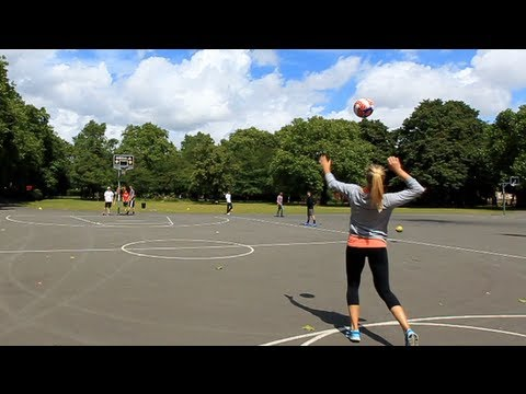 Volleyball Trickshots With Morgan Beck