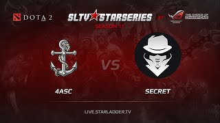 Secret vs 4Anchors, game 1