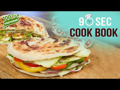How To Make Paratha Sandwich | 90 Seconds Cook Book | Quick Sandwich Recipe | Paratha | Easy Snacks