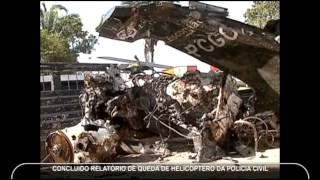 Relatório da queda do helicóptero da Polícia Civil do Estado de Goiás
