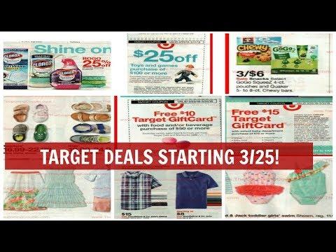 Target Deals Starting 3/25! HOT Week Coming Up! Printable Breakdown Below!