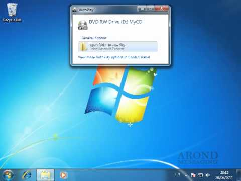 Using Windows 7 - Burn Files to a CD or DVD