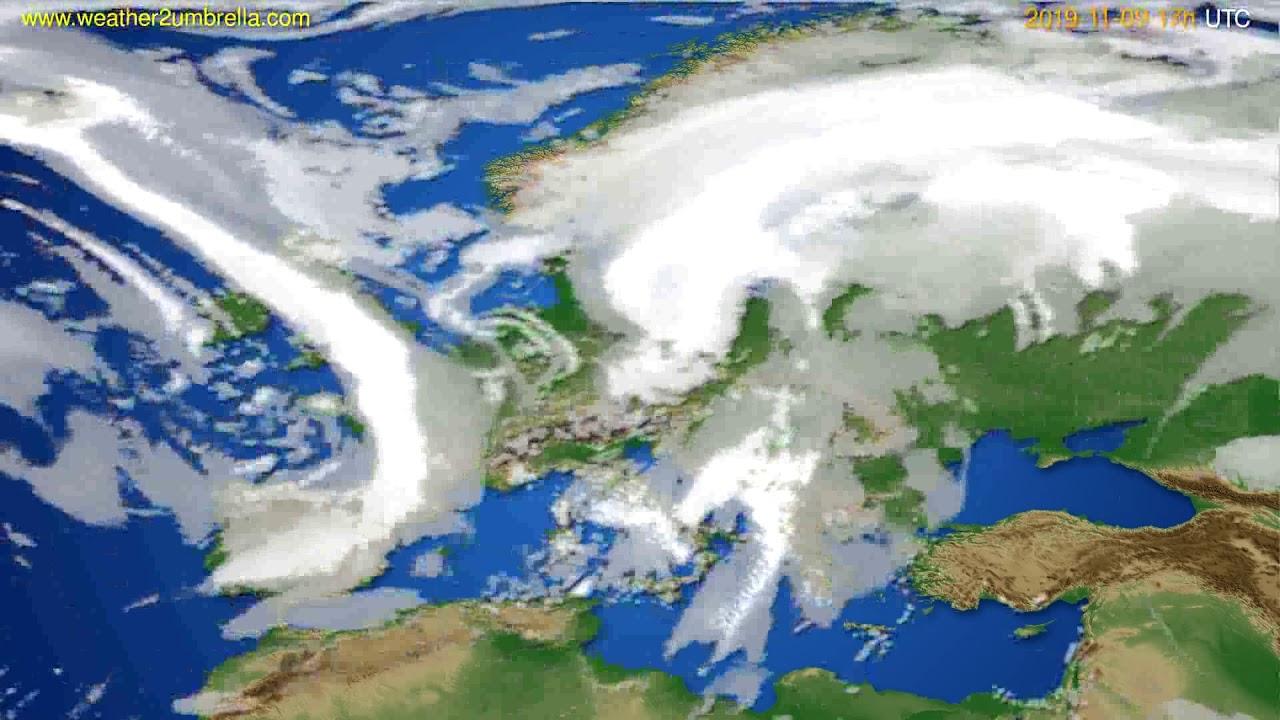 Cloud forecast Europe // modelrun: 12h UTC 2019-11-08