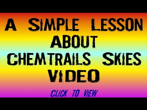 A Simple Lesson About Chemtrails Skies