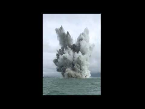 Huge World War Two mine destroyed in The Solent