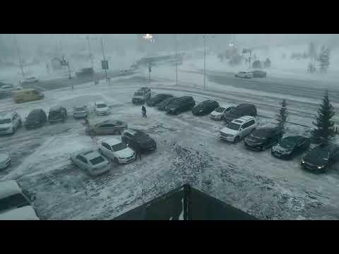 Ураган в Астане 11.01.2017 - DomaVideo.Ru