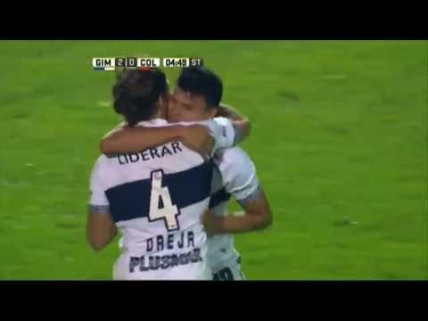 Gol de Bou. Gimnasia 2 – Colón 0. Fecha 16. Primera División 2016