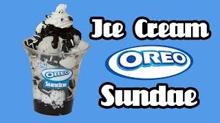 Oreo Ice Cream Sundae - Baskin Robbins - Miniature Clay Tutorial - YouTube