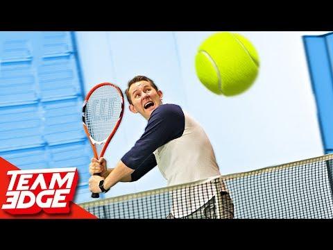 GIANT Tennis Challenge!! (видео)