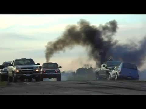Diesel truck owners gather to do burnout tribute for friend who passed away