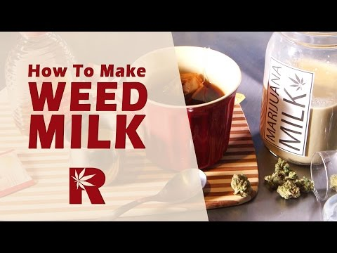 How To Make Marijuana Milk (Cannabis Infused Cream): Cannabasics #40