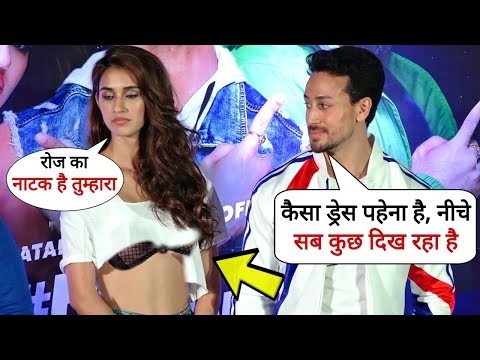 Tiger Shroff Fights With His Girlfriend Disha Patani For Her Dressing Style | Pepsi Anthem Launch