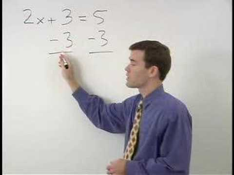 2 Step Algebra Equation Video