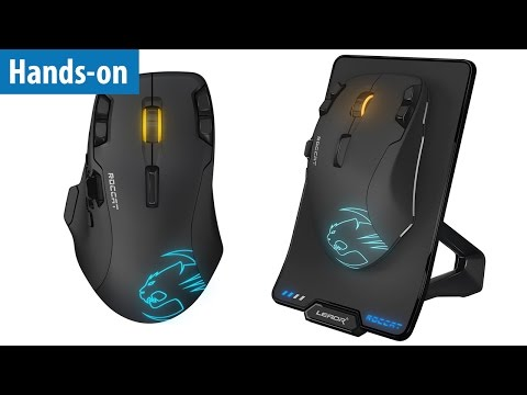 Wireless-Gaming-Maus mit 12000 DPI - Roccat Leadr im Hands-on | #Gaming-PC