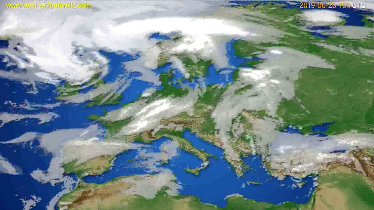 Cloud forecast Europe // modelrun: 12h UTC 2019-06-17