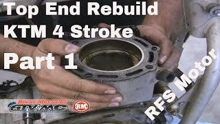 8. Motorcycle Top End Rebuild 4 Stroke (Part 1 of 2)