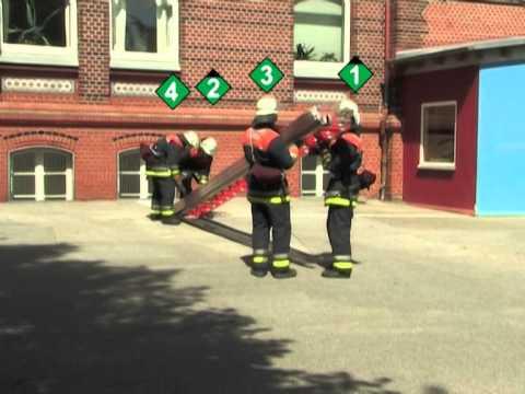 Tragbare Leitern im Feuerwehrdienst