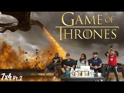 "DRACARYS! Game of Thrones Season 7 Episode 4 ""The Spoils of War"" REACTION! Pt 2"