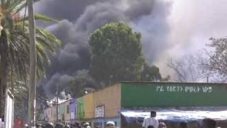 Bahir Dar : African market place burns down.