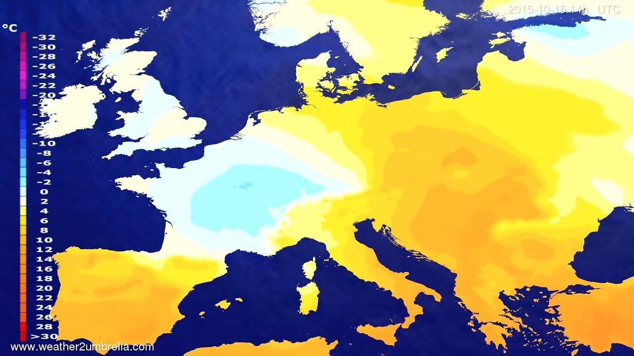 Temperature forecast Europe 2015-10-13