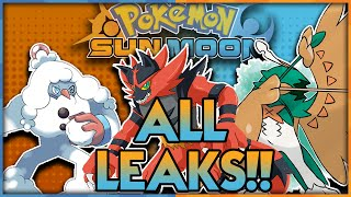 CONFIRMED LEAKS!? POKÉMON SUN AND POKÉMON MOON RELEVANT LEAKS DISCUSSION! ALL SUN AND MOON LEAKS! by aDrive