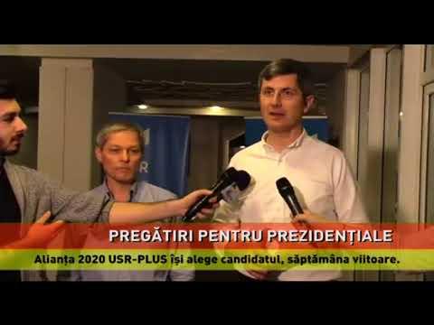 Alianța 2020 USR-PLUS își alege candidatul, săptămâna viitoare