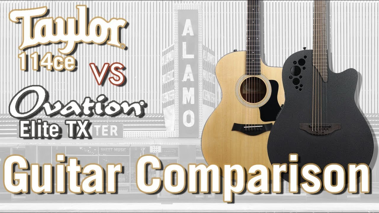 Taylor 114ce vs Ovation Elite TX – The Best Stage Ready Acoustic Guitars