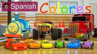 Learn Colors (SPANISH) - Colores y coches de carreras con Max, Bill y Pete el camión - TOYS full download video download mp3 download music download