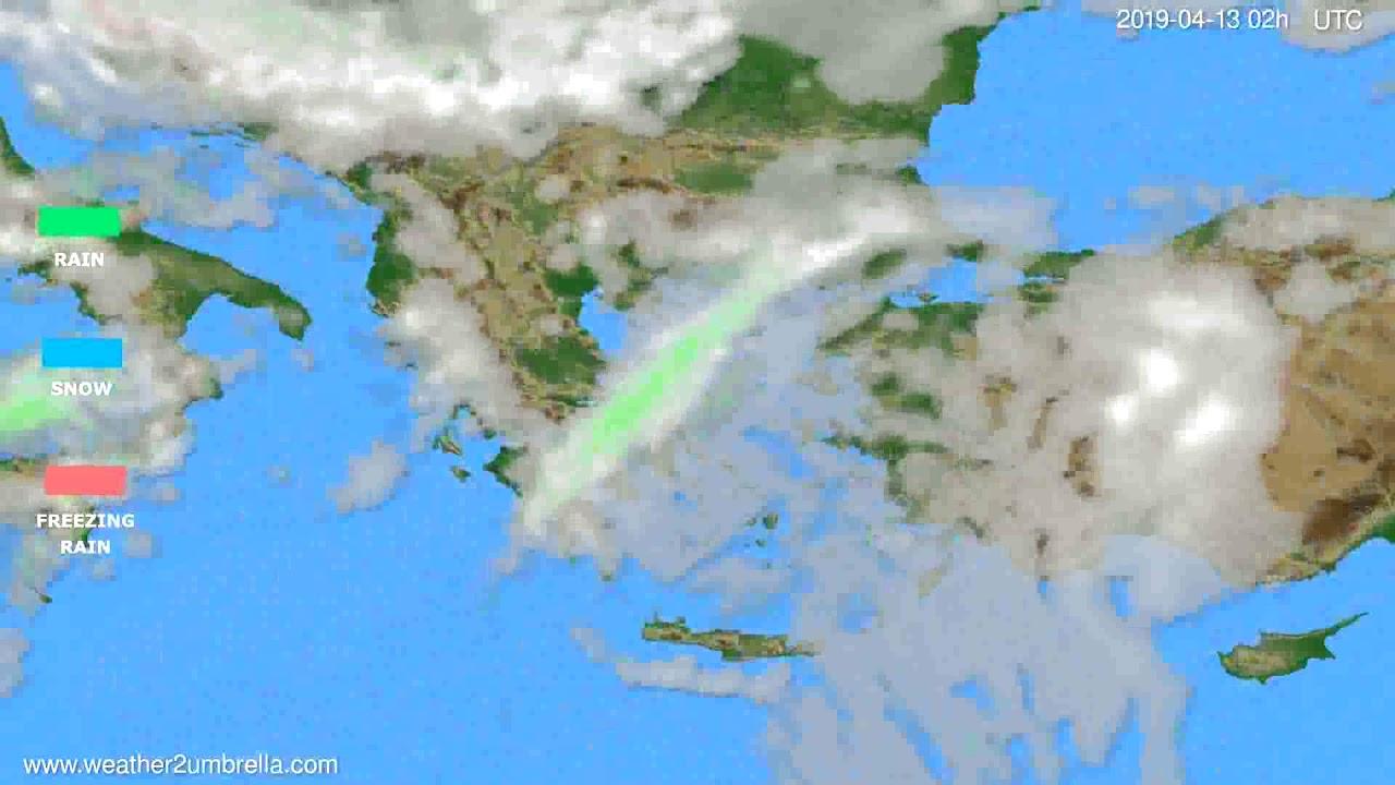 Precipitation forecast Greece // modelrun: 12h UTC 2019-04-10