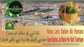 Video Nana Lelo Salam Ab Hamara Sue Karbal Ja Raha Hai Nati Tumhara | Shabbir Ahsan Munawwari Naat 2017 MP3, 3GP, MP4, WEBM, AVI, FLV September 2018