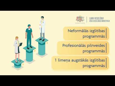Veselības ministrija ESF ietvaros piedāvā tālākizglītības iespējas