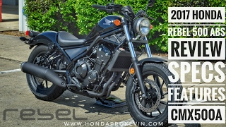 6. 2017 Honda Rebel 500 ABS Review of Specs | Motorcycle / Cruiser Walk-Around + Startup | CMX500A