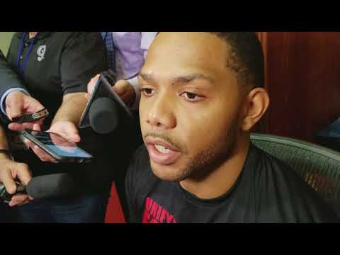 Eric Gordon after Houston's 60th win
