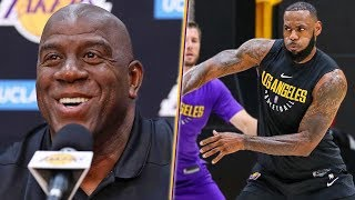 Video Magic Says Lakers Are STACKED And Don't Get Him Started On LeBron.. LA Presser Highlights MP3, 3GP, MP4, WEBM, AVI, FLV Desember 2018