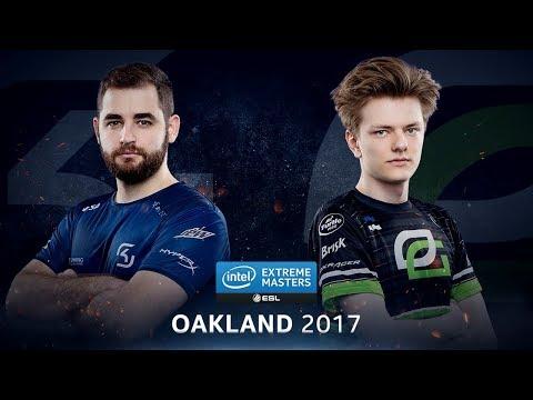 CS:GO - SK vs. OpTic [Inferno] Map 2 - Quarterfinal - IEM Oakland 2017 (видео)